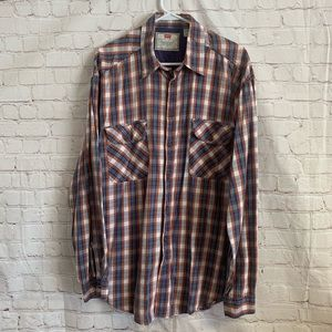 Levi's Button Front Plaid Shirt